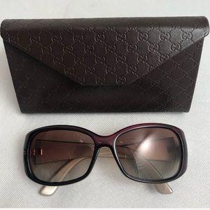 Gucci 3026/S brown polarized rectangle sunglasses